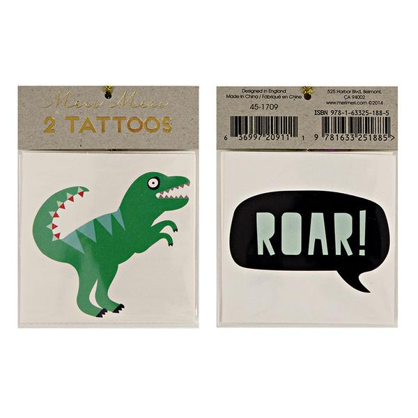 Dinosaur & Roar Tattoos