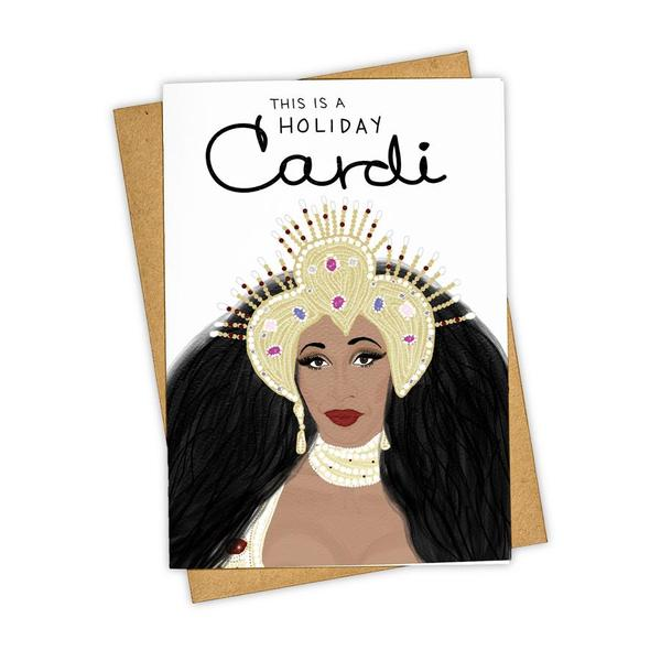 This is a Holiday Cardi Card