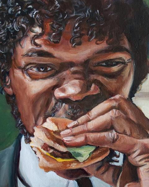 Jules Eats a Big Kahuna Burger