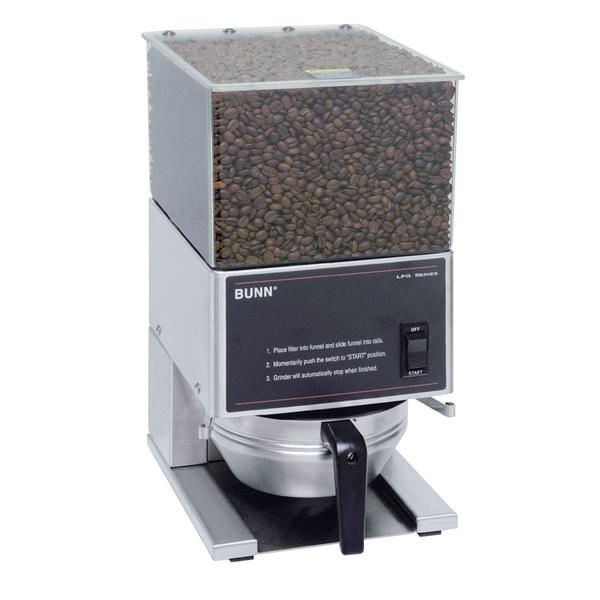 BUNN Stainless Steel Coffee Grinder with 1 Hopper