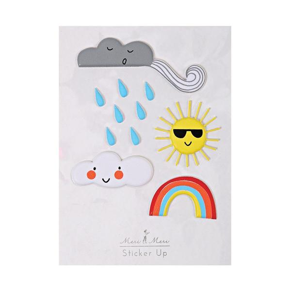 Weather Puffy Stickers