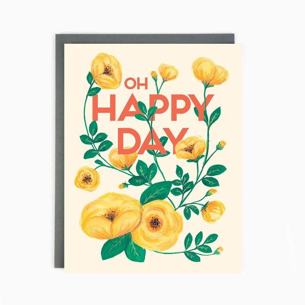 Oh Happy Day Wedding Card
